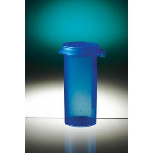 Container Hinged Cap 50ml Sterile Blue