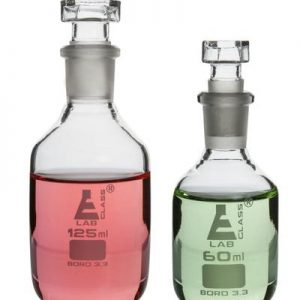 BOTTLE REAGENT, NARROW MOUTH WITH GLASS STOPPER - 500 ML (pk of 6)