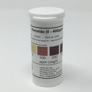 Peroxide 0-400ppm Test Strip
