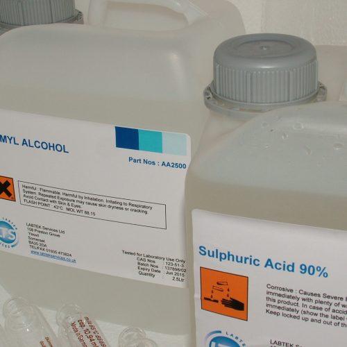 Sulphuric Acid 90-91% (Milk Testing) (4* 2.5ltr) UN1830