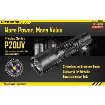 NiteCore P20UV UltraViolet Torch