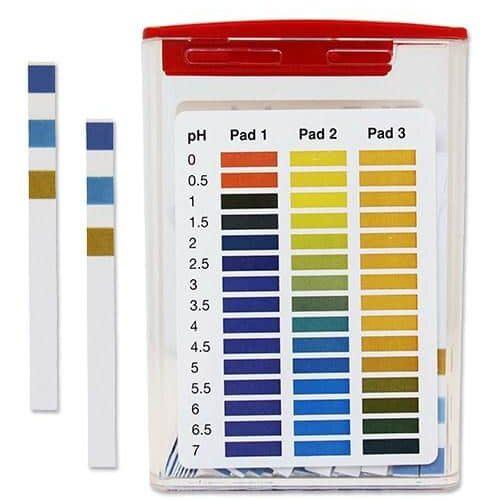 pH Test Strip 0-7 3pad Vinyl
