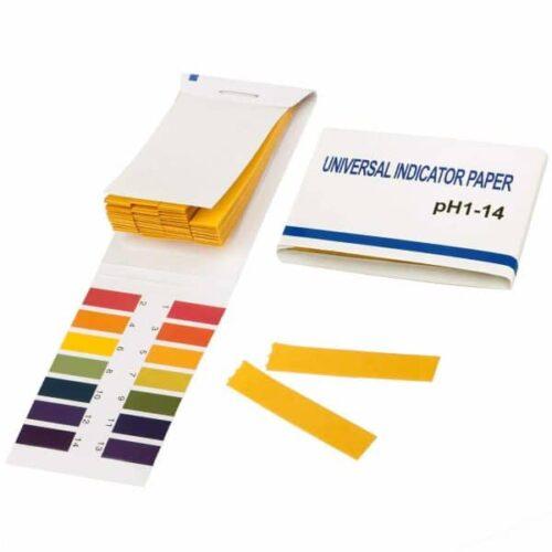 Yellow Litmus Paper pH 1-14 ( 80 Strips)