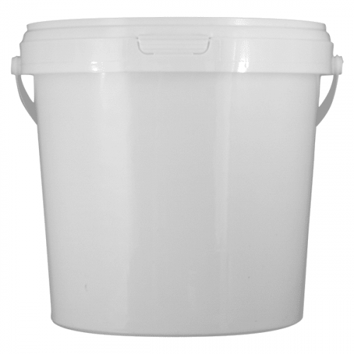 Sample Container, White 1.5ltr With Push Lid Pack 25