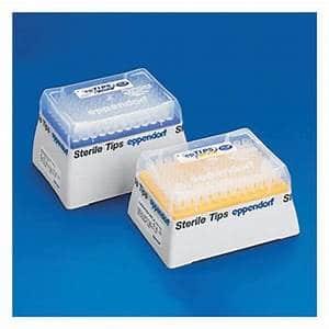 epT.I.P.S. Racks, Biopur, 0.25 u2013 2.5 mL, 115 mm, red, colorless tips, 240 tips (5 racks × 48 tips).
