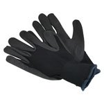 Nitrile Safety Gloves, Foam Palm, Single Pair Large